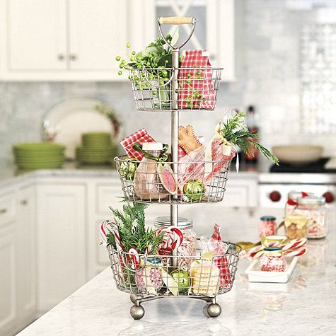 Southern Living Tiered Wire Basket Kitchen Pinterest Wire - southern living christmas decorations