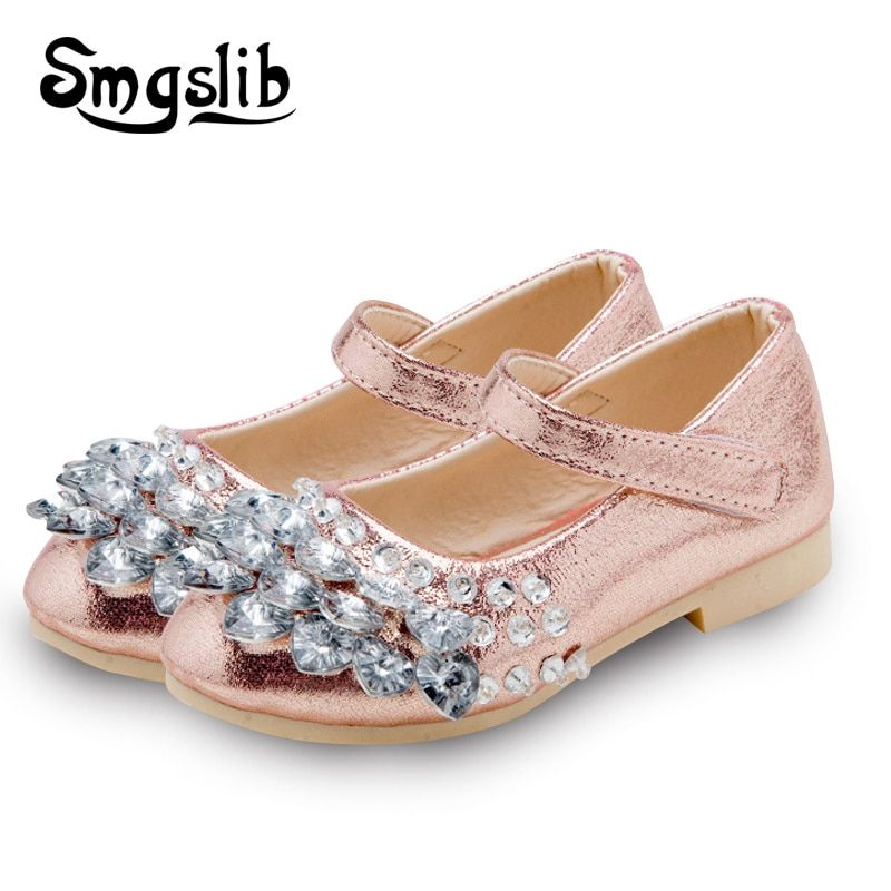 d7221c2783c69 Children shoes girls Fashion Rhinestone Princess glitter Girls Dance Shoes  Party PU Leather Autumn spring Kids Shoes for Girl Price  7.75   FREE  Shipping   ...