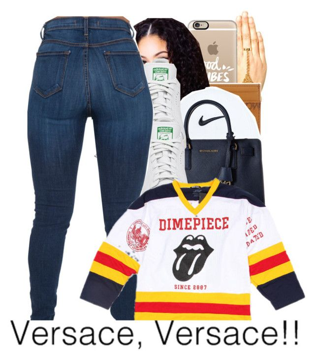 """""""05-24-2016."""" by trillestqueen ❤ liked on Polyvore featuring Boohoo, Casetify, MCM, NIKE, MICHAEL Michael Kors and adidas"""