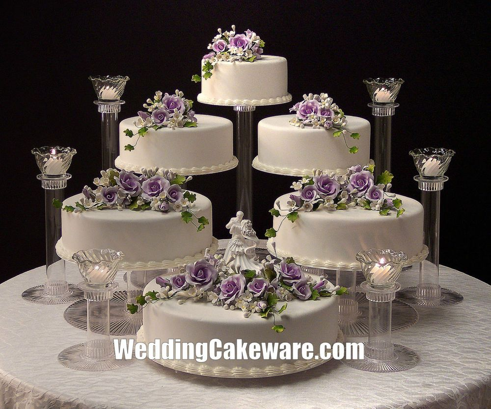 6 Tier Cascading Wedding Cake Stand Stands 6 Tier Candle Stand