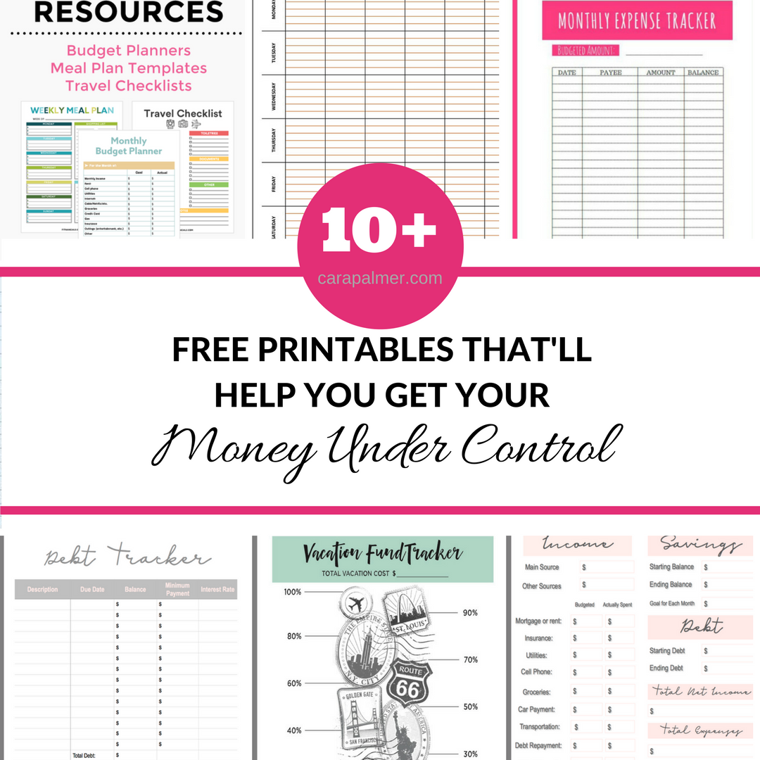 10 Free Budget Printables That Ll Help You Get Your Money