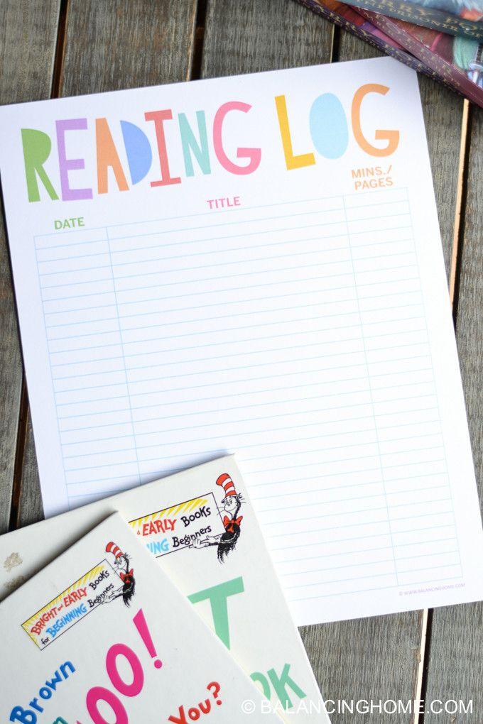 Reading Log Printable Balancing Home Reading Log Printable Homeschool Reading Reading Logs