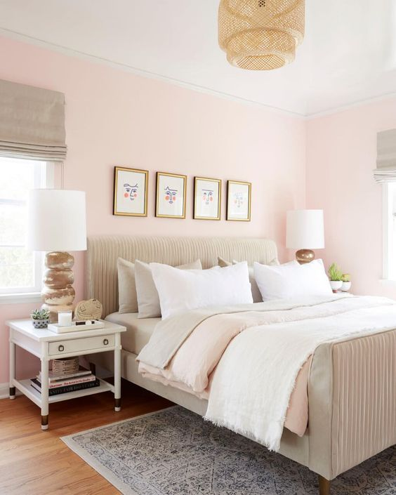 Pink Bedroom For Girl For Women Elegant Boho Simple Decoration