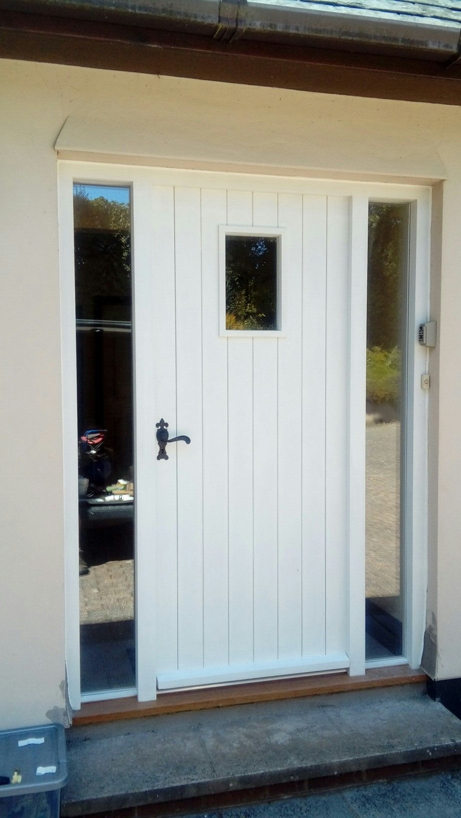 Double Boarded And Insulated Front Door Screen With Side Panels