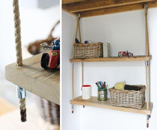 Image Result For Hanging Wood Shelves Jute Rope Wood Shelves Hanging Wood Shelves Hanging Rope Shelves