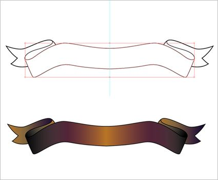 Tutorial: How to draw a banner (scroll) in Illustrator ...