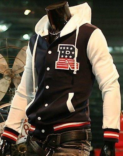 44ad6d80c Letter R Hoodie Letterman Jacket Navy For Men Stay warm and stylish ...