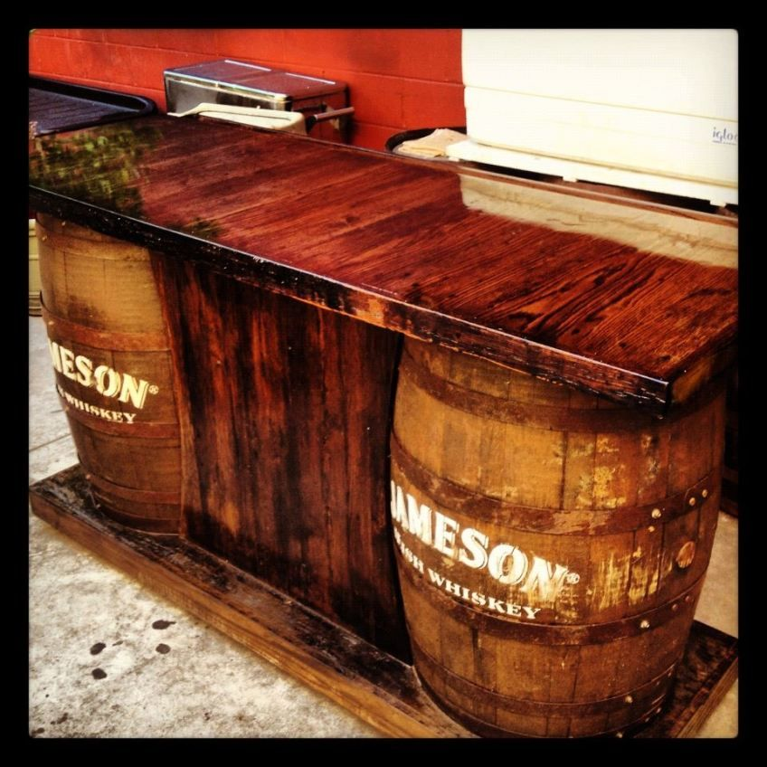 wine barrel bar plans. Jameson Barrel Bar Wine Plans