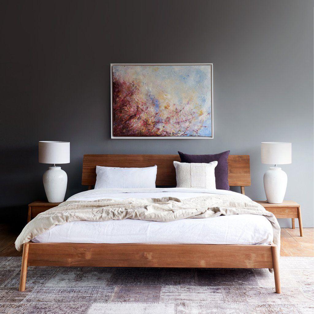 Teak Bed Frame Air Bed Australian King Size