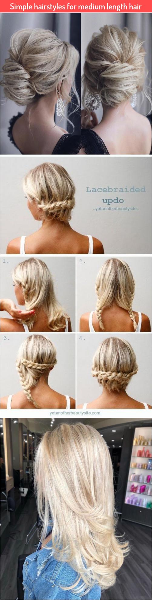 Simple hairstyles for medium length hair in 2020