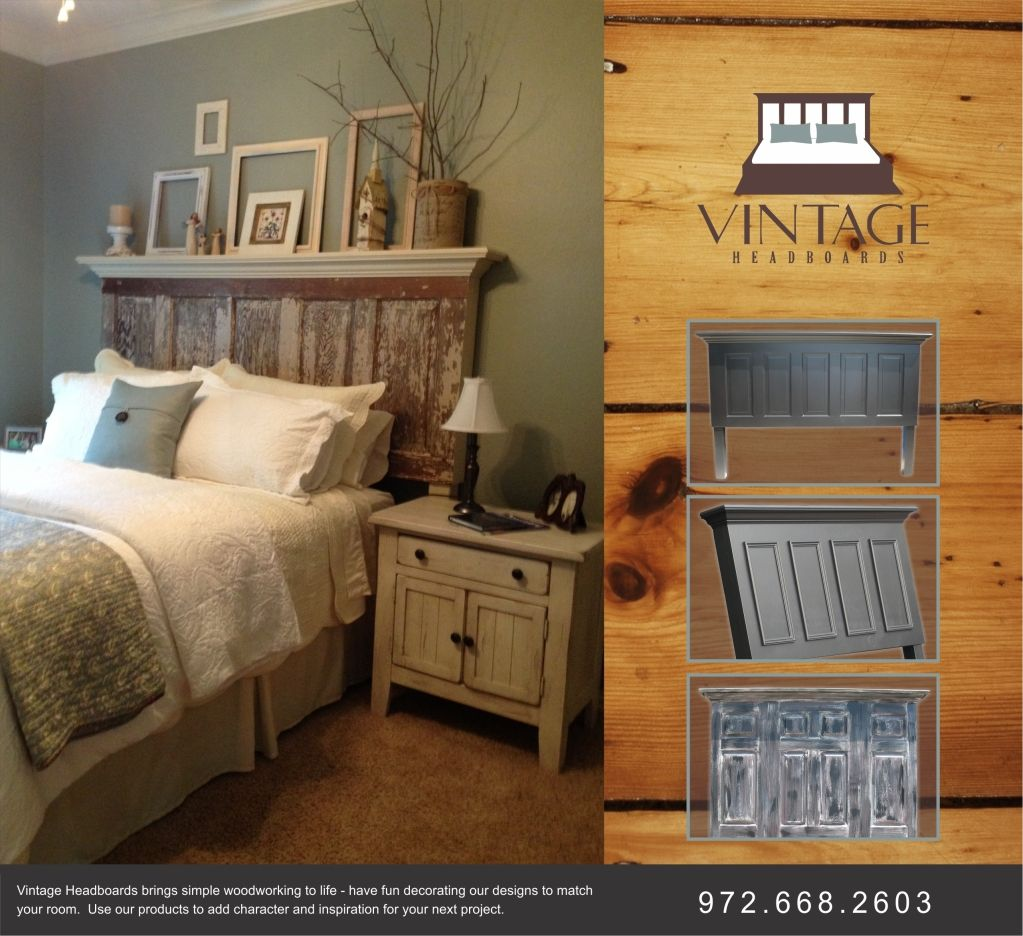 We make headboards to fit any size bed using old doors and new doors