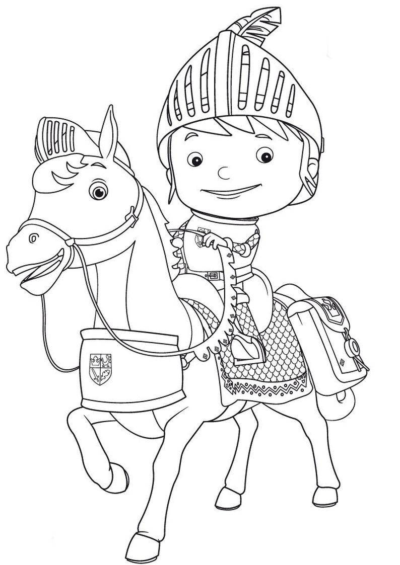mike the knight coloring pages kolorowanka z bajki rycerz mike