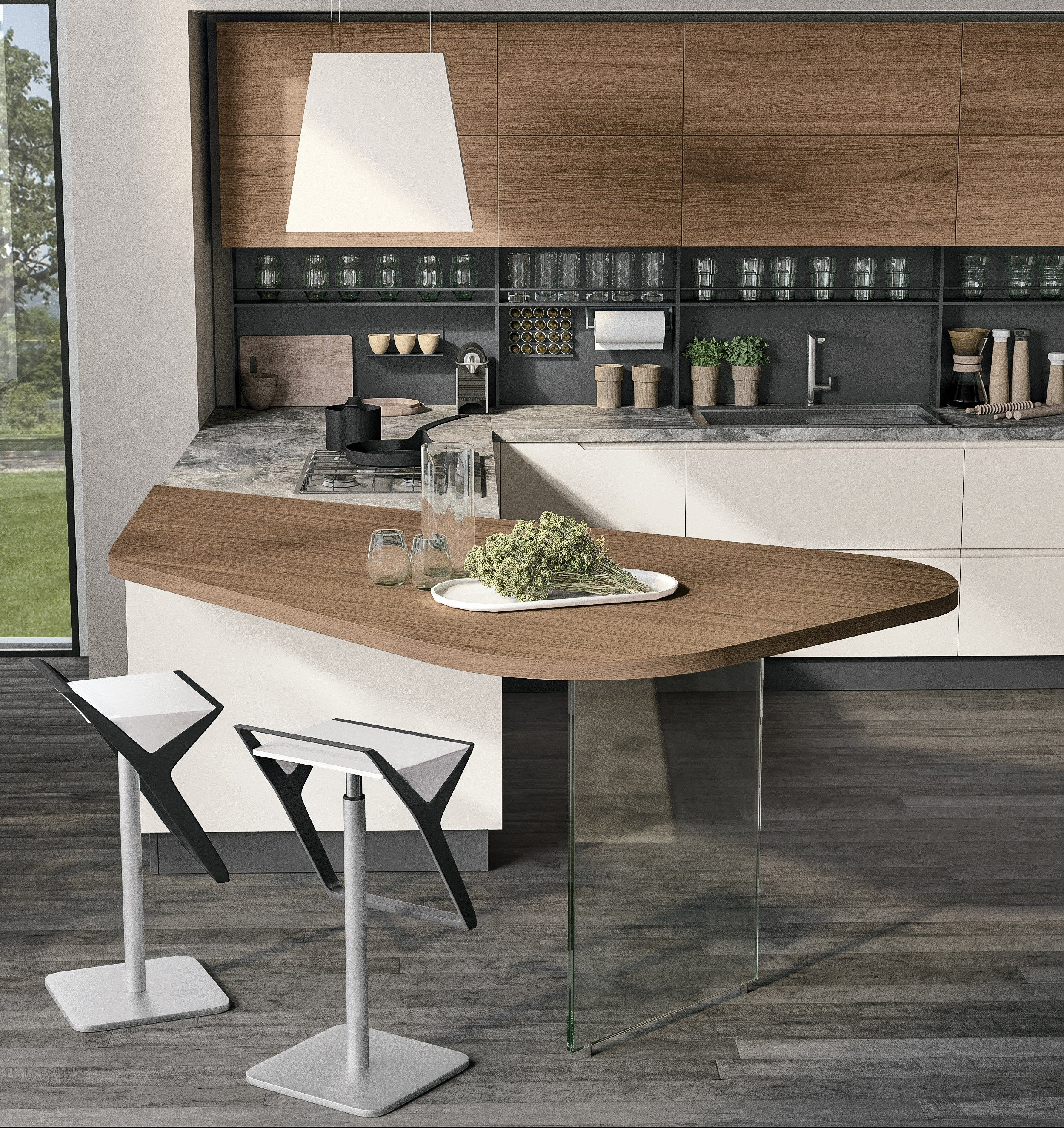 Luna Kitchen With Peninsula By Cucine Lube Con Immagini