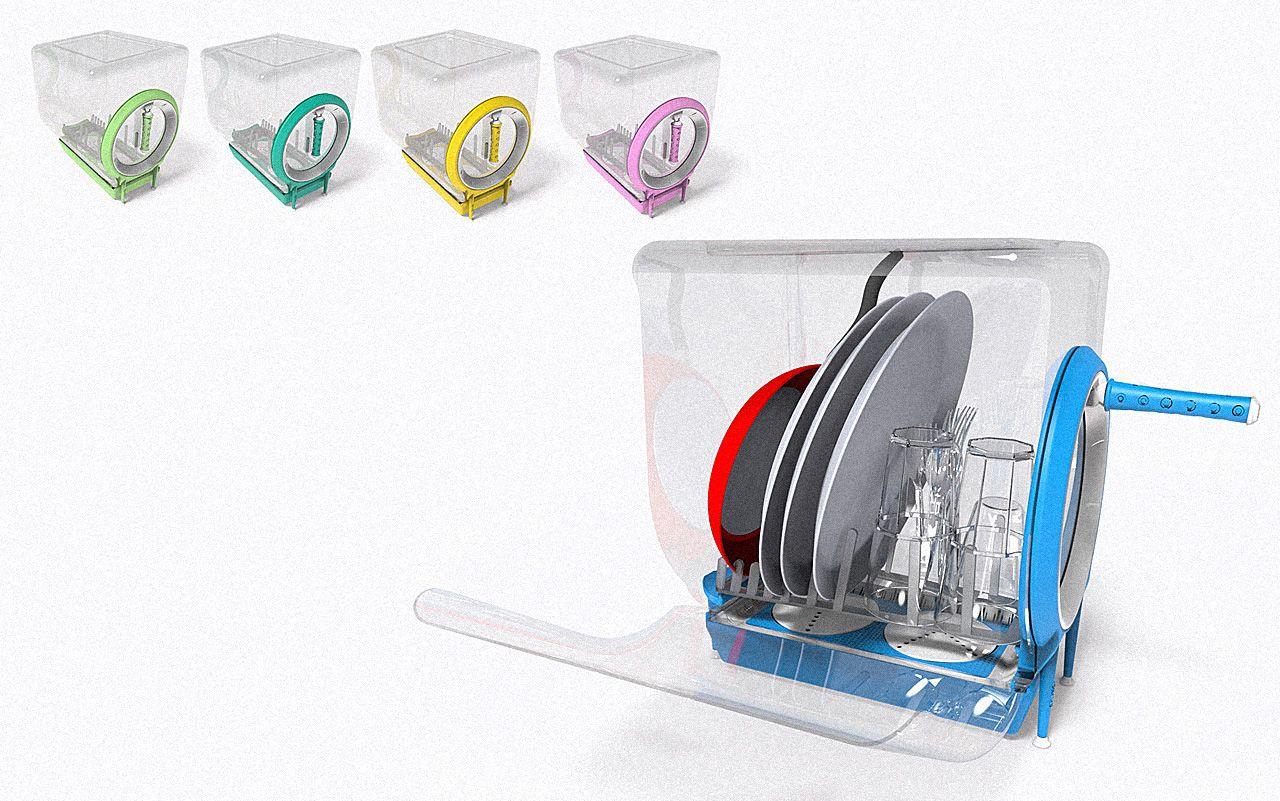 Algo entre lavar a louça e lava-louças: rápida, econômica e manual.