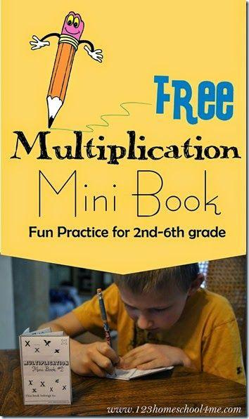 FREE Multiplication Mini Book | Multiplikation, Mathe und ...