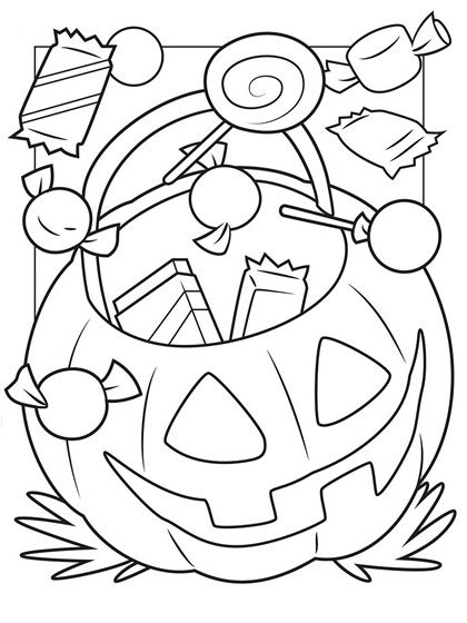 Bucket Of Candy Free Halloween Coloring Pages Halloween Coloring Book Crayola Coloring Pages