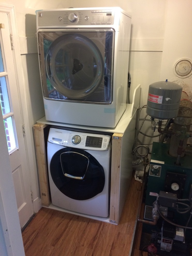 Can I stack a washer & a dryer of a different brand & size