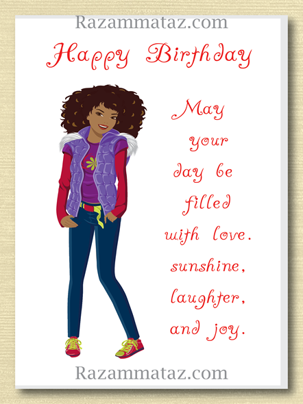 African American Girl Birthday Card F Girl Birthday Cards American Girl Birthday Happy Birthday Black
