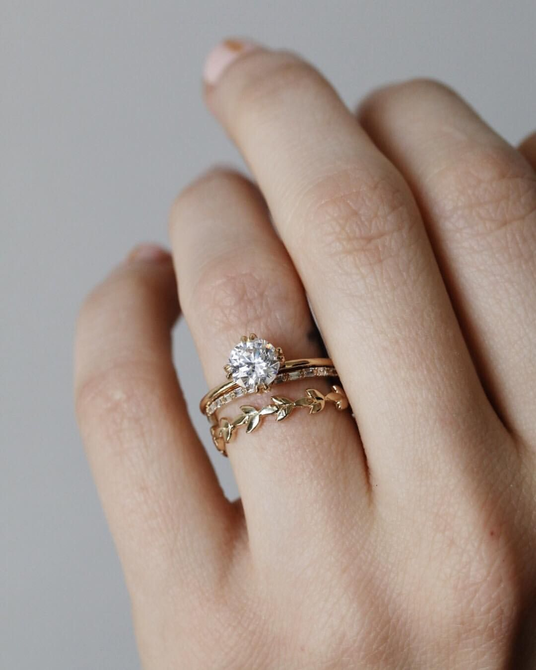 A Of Whimsical Wedding Bands Paired With Our Primrose Engagement Ring Only Enhances The Character Tap To These Styles