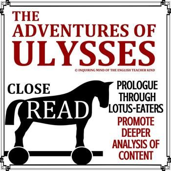 the adventures of ulysses close read exercise prologue through rh pinterest com The Adventures of Ulysses Circe The Adventures of Ulysses Prologue