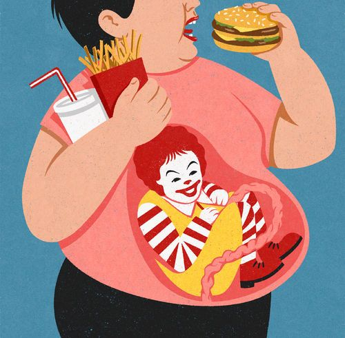 Burger Boy Sad But True Found On Johnholcrofttumblrcom WOW - 16 satirical illustrations that offer a witty outlook on modern life