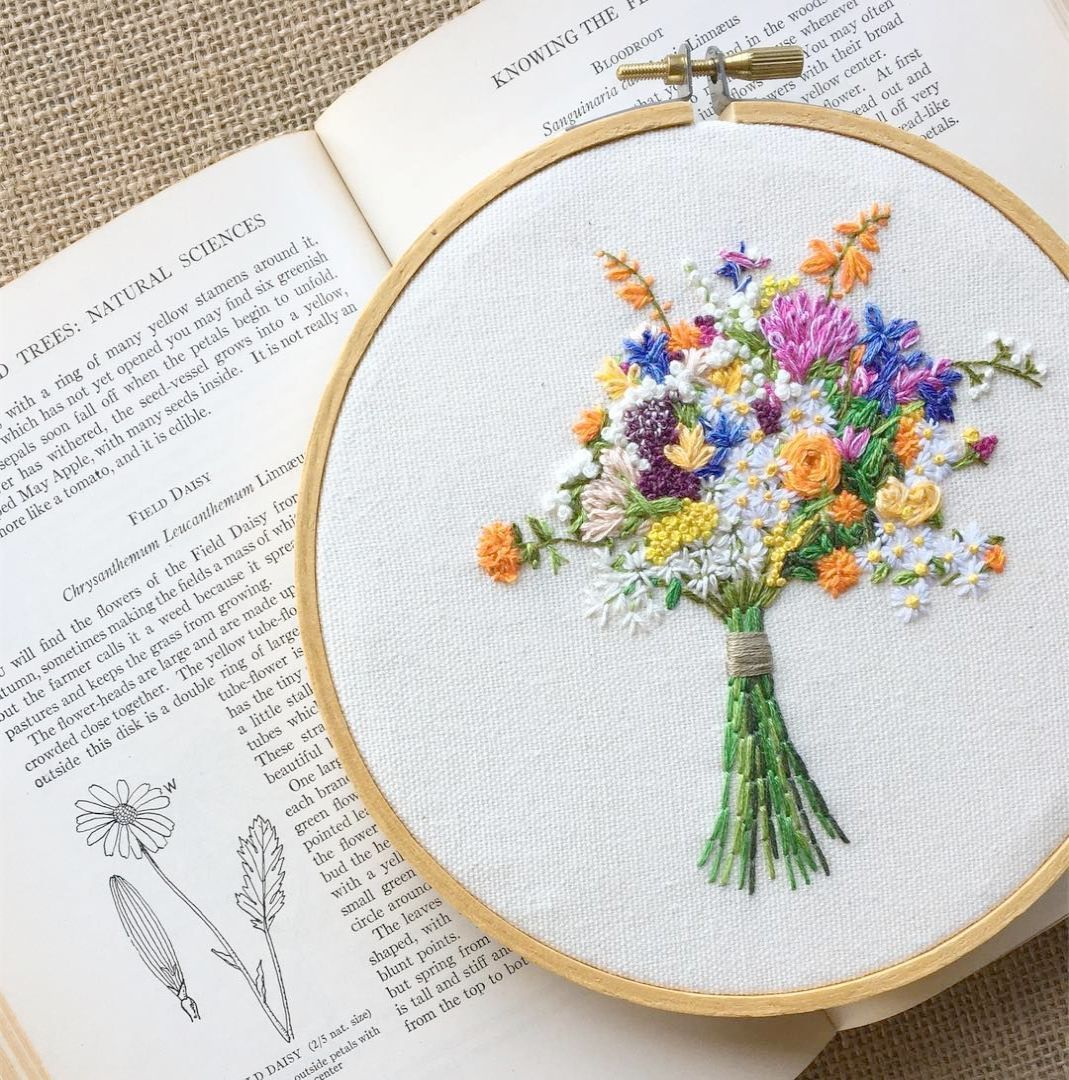 Hand embroidery christmas patterns rose hand embroidery pattern free
