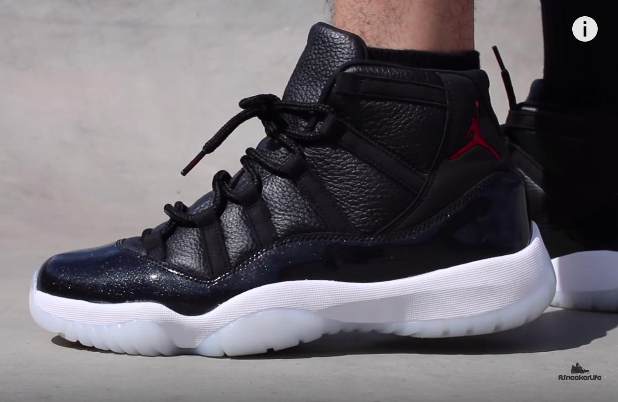 Jordan 11 on feet