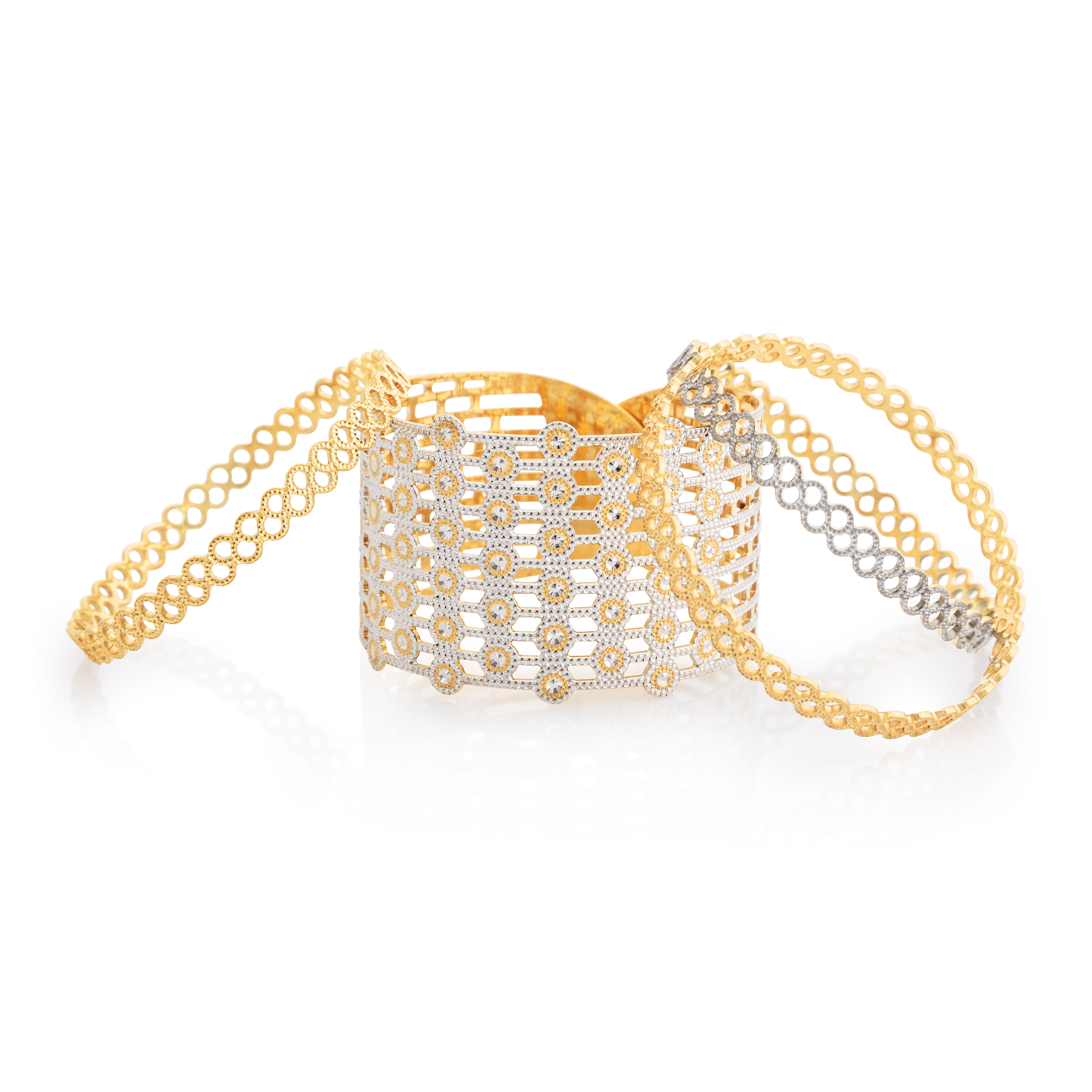 Reimagine craftsmanship with breath taking gold bracelets and