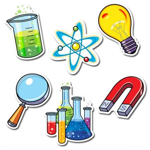 science lab 6 designer cut outs ctp3875 rh pinterest com Cross Clip Art Magnet Clip Art