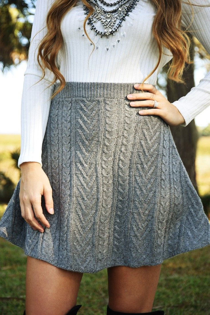Things That Matter Skirt: Gray #shophopes