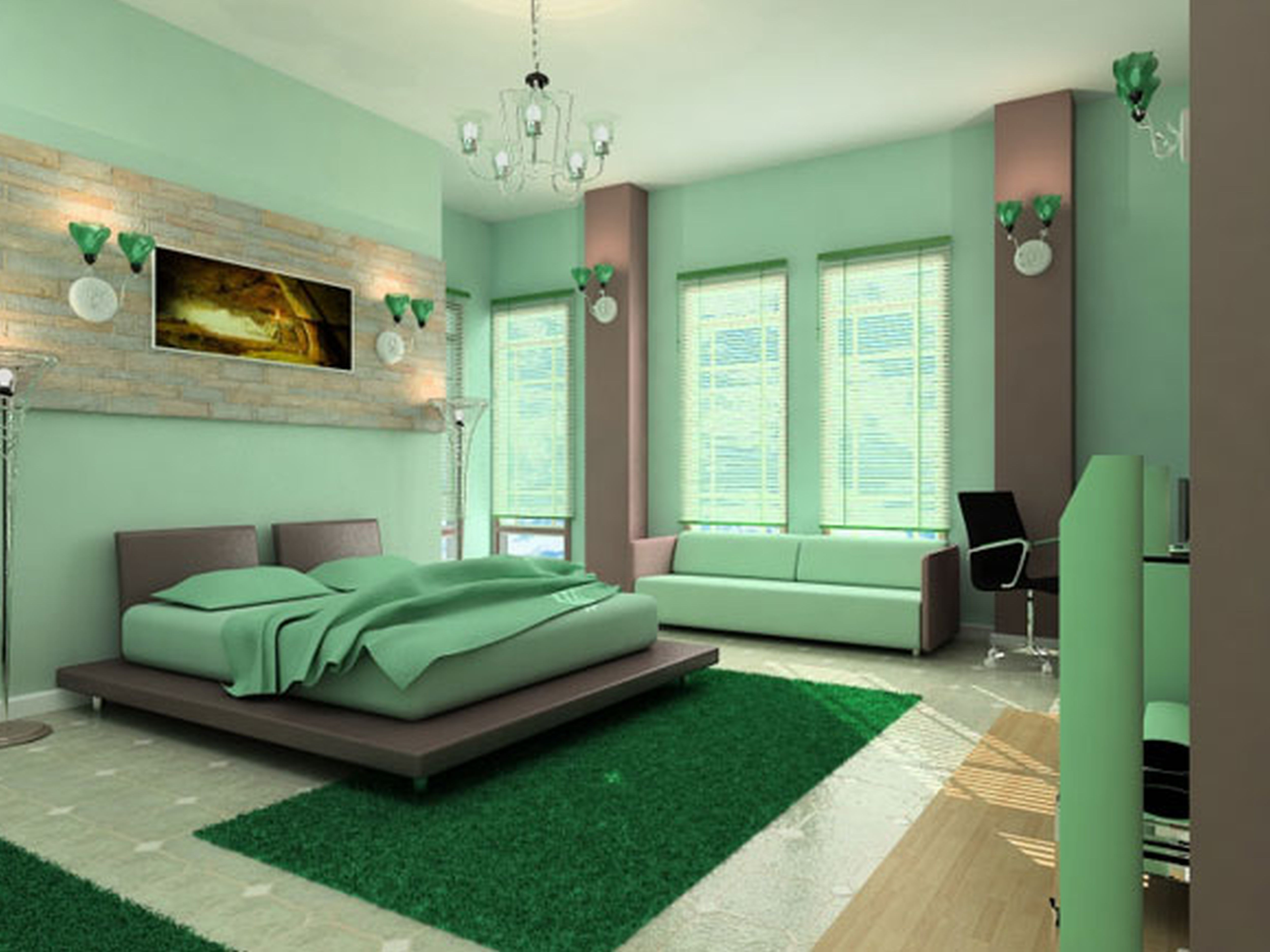 Wall Painting Designs For Bedrooms Magnificent Fairdesignideasofcuteroompaintingwithgreengreywallpaint 2018