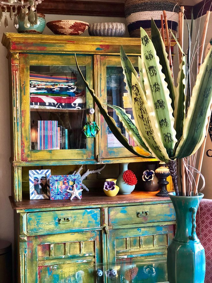 Home - rustic yellow cabinet | Painted bookshelves, Yellow ...