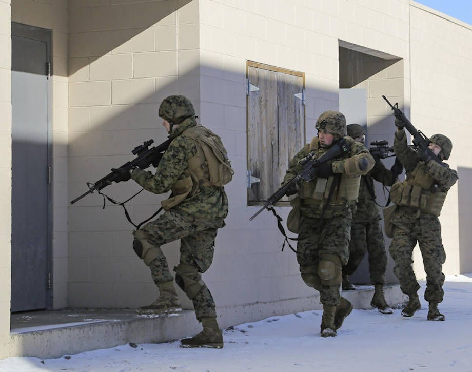 March 10 2016 Marines Assault And Clear United States Military Marines Military Operations