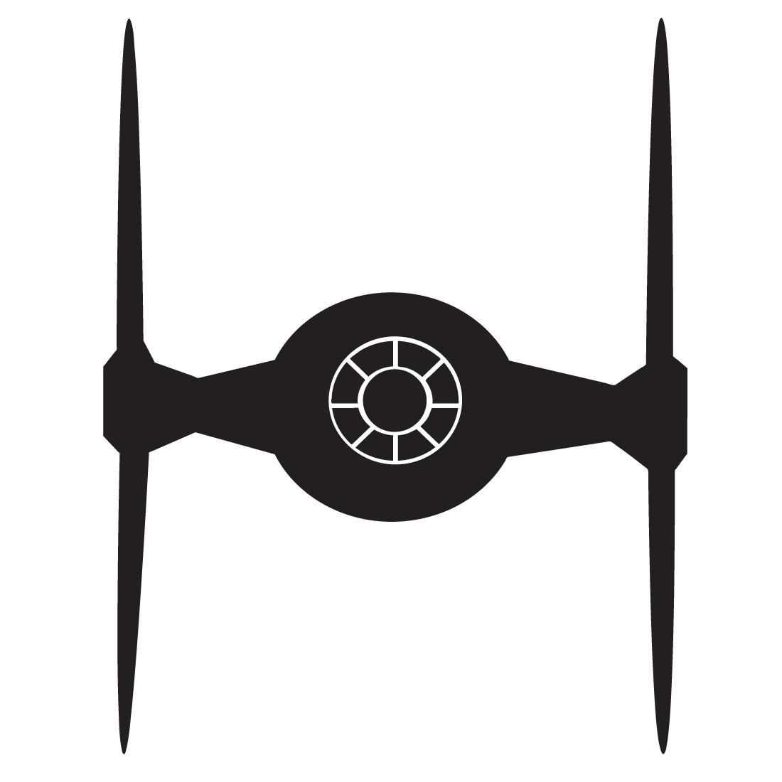 Adhesivo De Vinilo De La Nave Tie Fighter De Star Wars Star Wars Decal Star Wars Stencil Star Wars Quilt