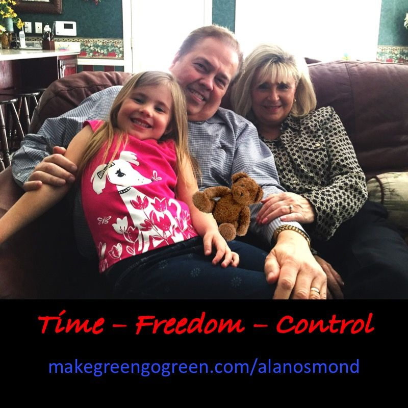 Time Freedom and Control  Most people don't have the time to accomplish what they want with their lives. Time Freedom means you own your own life and decide where you spend your time. For us, it allows us to put our FAMILY first.  We define control as being able to choose not only who we spend our time with but how we spend our time, where we live, what schools our children attend and where we vacation. It means deciding when you work, where you work and who you work with.  We enjoy helping…