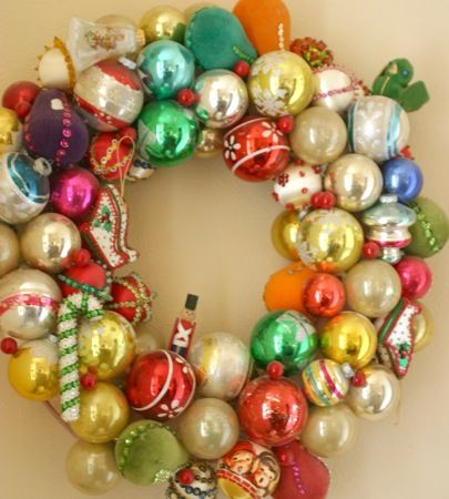 Decorated Christmas Balls Kitschy Dollar Store Christmas Wreath  Ho Ho Ho  Pinterest