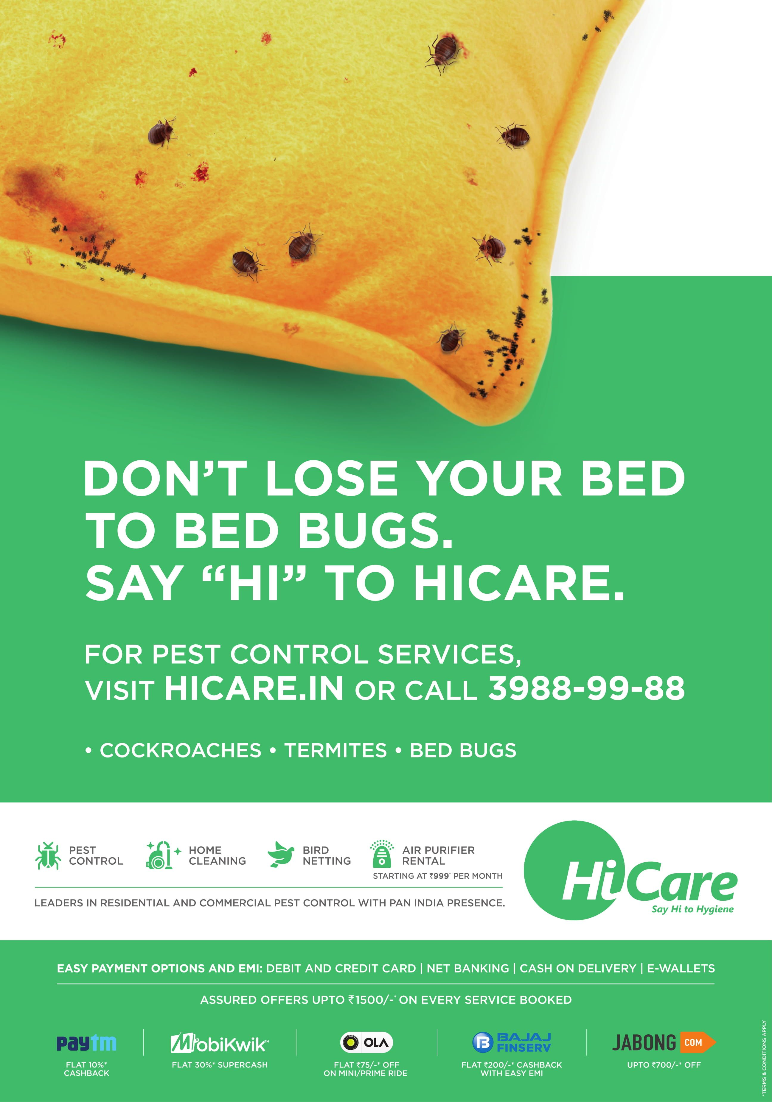 HiCare, India's best and no. 1 Cockroach Pest Control