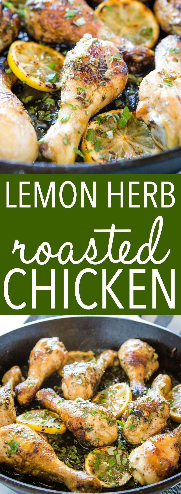 Easy Lemon Herb Roasted Chicken This Easy Lemon Herb Roasted Chicken is a delicious main dish made