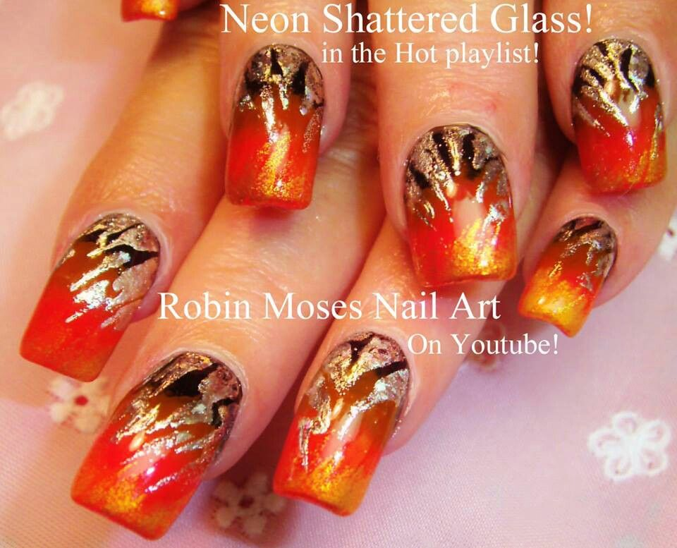 Robins neon shattered glass