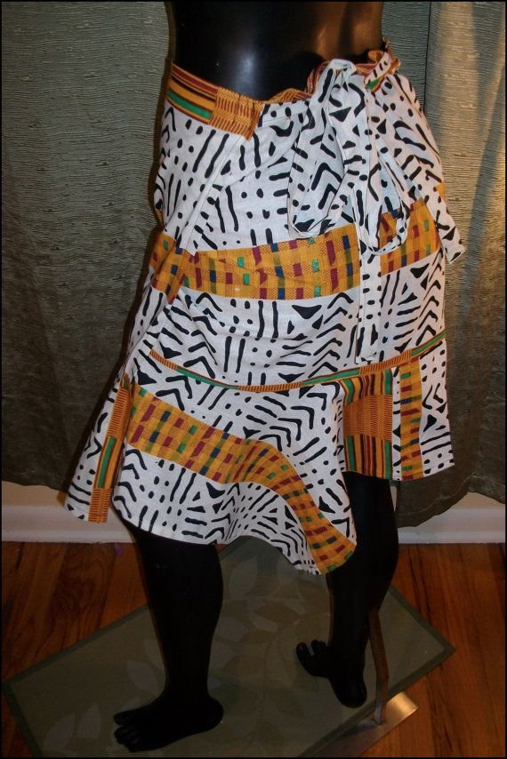 NEW!!! African Mud Cloth & Kente Look Short by SunsFlowerCreations, $28.00