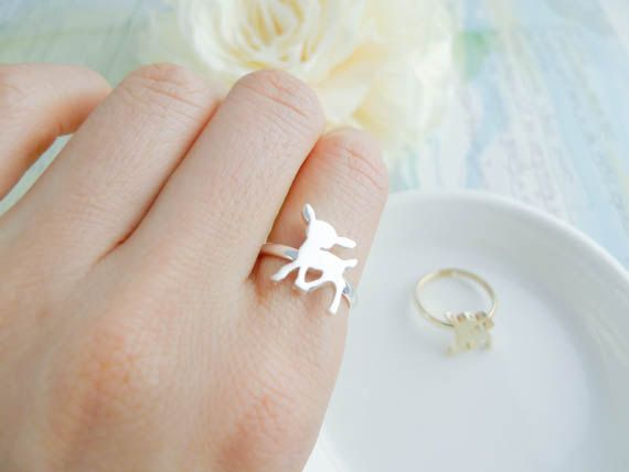 deer ring in Gold / Silver