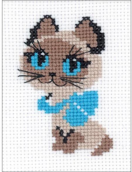 Tropical Kitty – Beaded Cross Stitch Kit