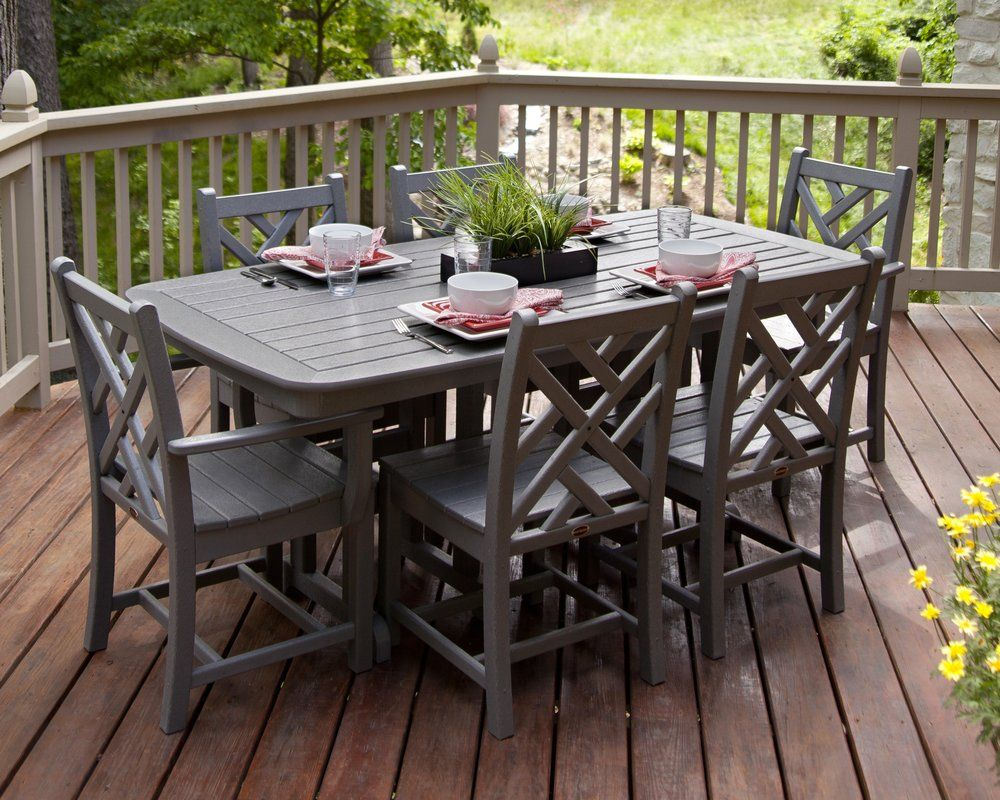 Chippendale 7 Piece Dining Set | Patio furniture sets ... on Living Accents Cortland Patio Set id=68457
