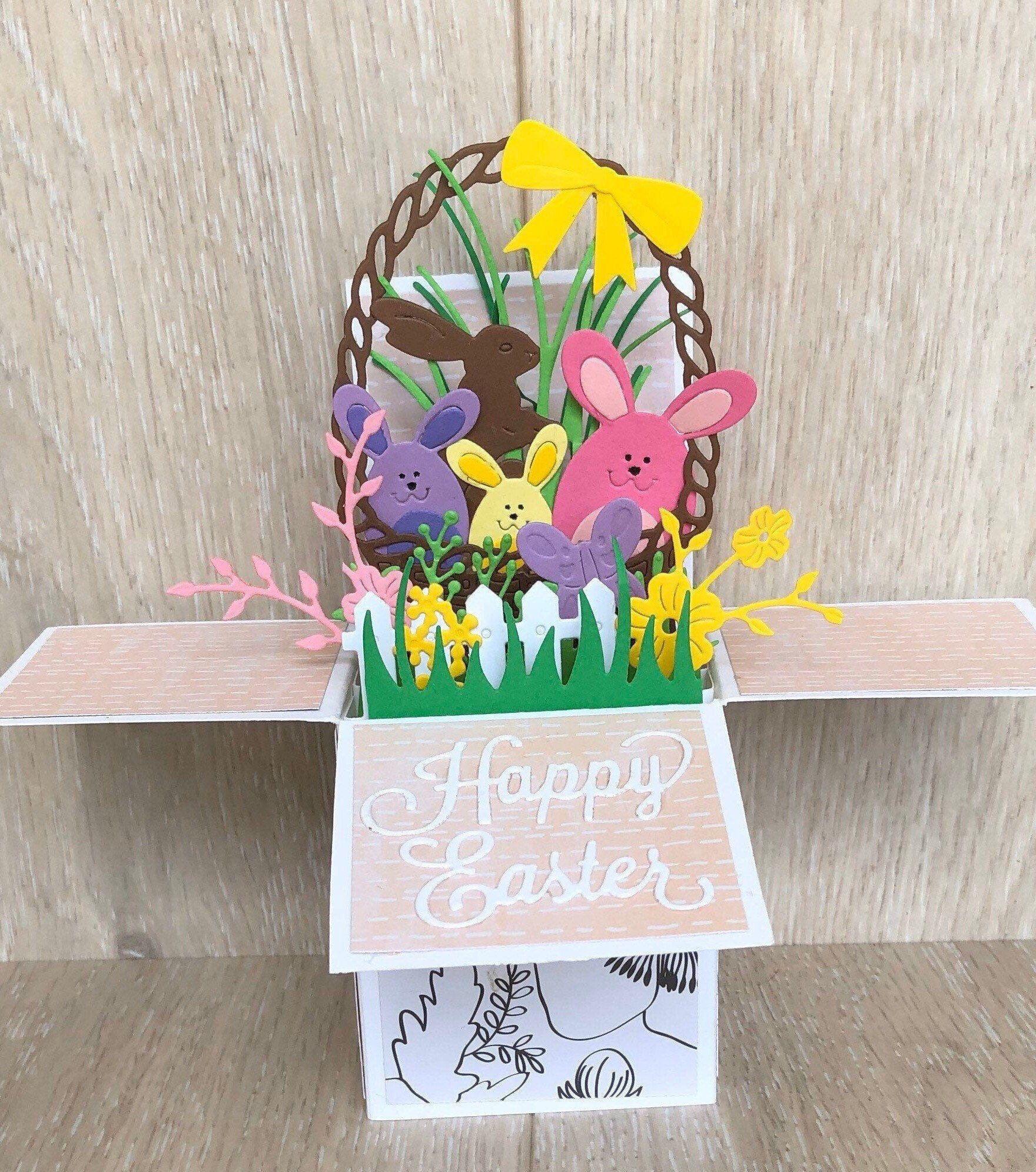 Easter Egg 3D colourful handmade Easter card