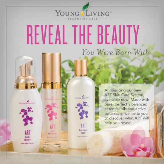 The ART Skin Care  System products serve as the foundation of my daily skin care regimen by safely and effectively cleansing, toning, and moisturizing my face.  www.youngliving.org/n1peace