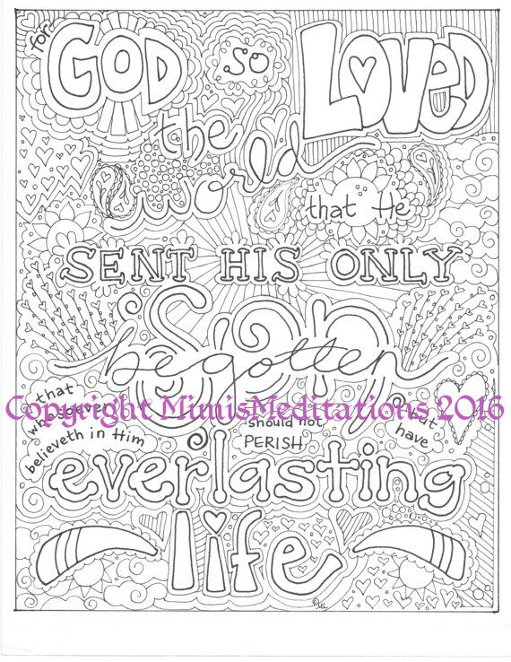 Coloring Page For God So Loved The World Coloring Pages Bunny