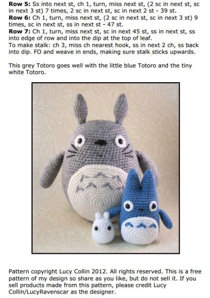 Totoro-Trio Häkelanleitung | 594x420