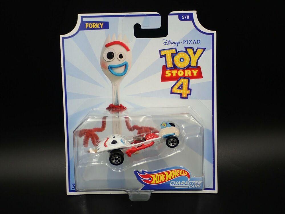 Hot Wheels Character Cars Disney Pixar Toy Story 4 Forky 5 8 Hotwheels Pixar Toys Toy Story Disney Toys