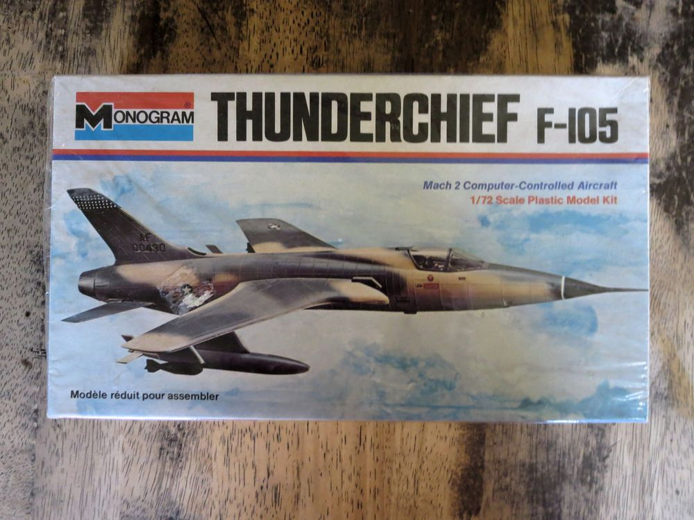 Monogram 6808 1 72 Republic F 105 Thunderchief 1973 Model Kit Monogram Plastic Model Kits Model Kit Monogram