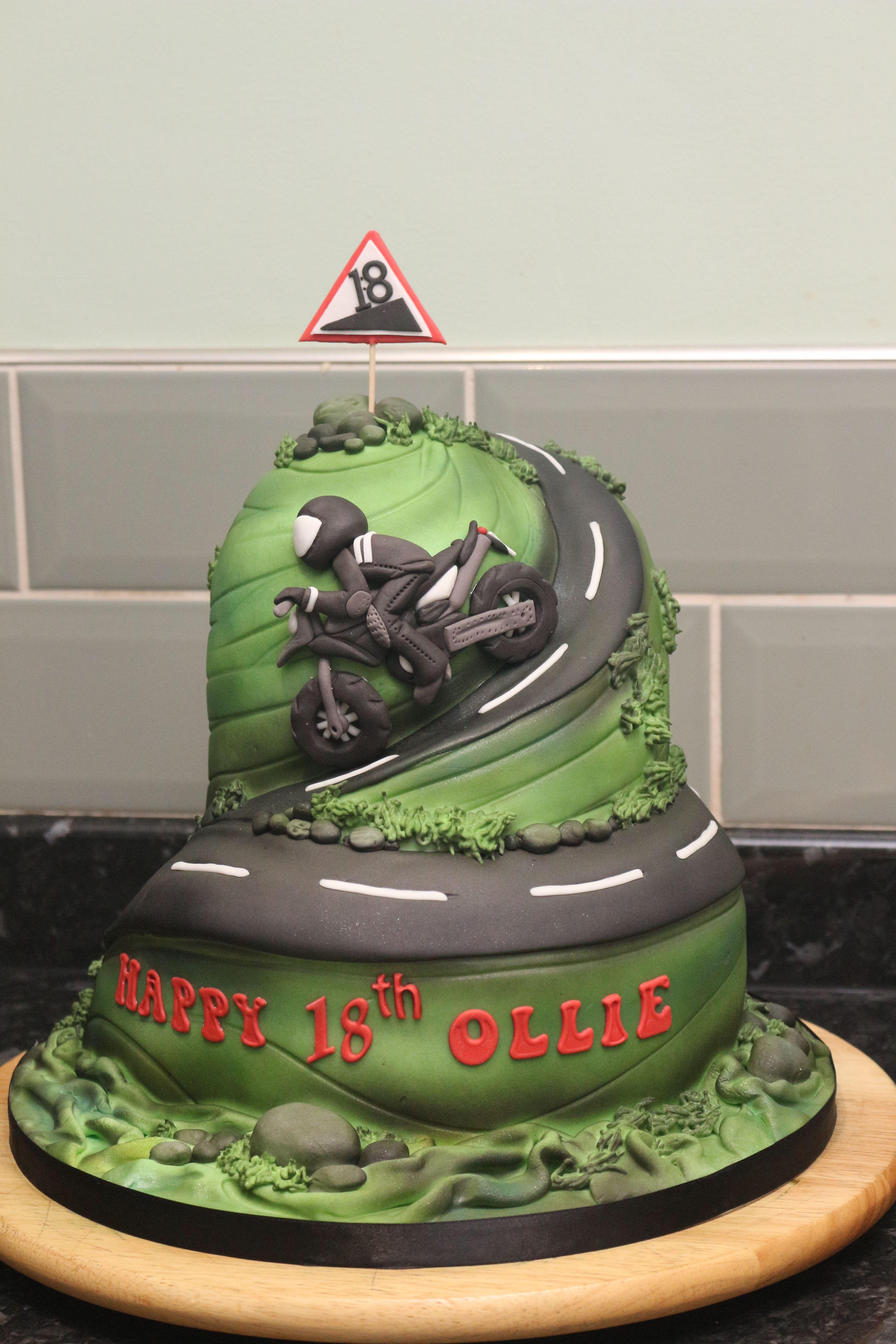 Motorbike Cake Bday Party